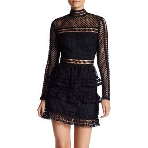 Romeo + Juliet  Long Sleeved Tiered Lace Dress